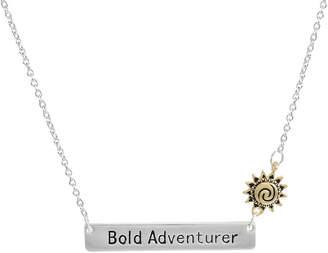 Disney Womens Rectangular Moana Pendant Necklace