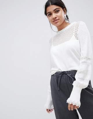 Suncoo knitted balloon sleeve top