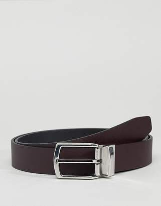 French Connection Micro Dot Belt In Black