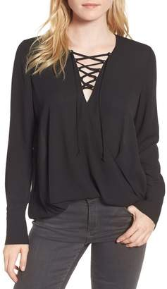 Trouve Trouv? Lace-Up Top