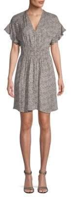 Rebecca Taylor Briar Mid-Thigh Silk Sheath Dress
