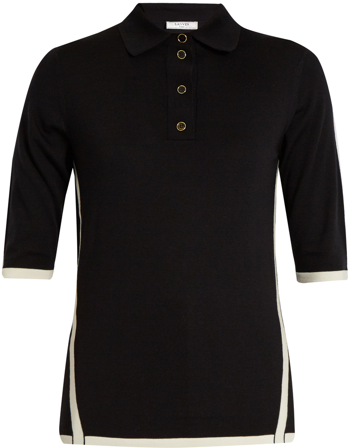 Lanvin LANVIN Bi-colour wool polo shirt