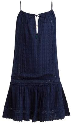 Melissa Odabash Chelsea Broderie Anglaise Cotton Dress - Womens - Navy