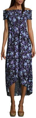 Arizona Short Sleeve Maxi Dress-Juniors