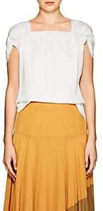 Zero Maria Cornejo Women's Clio Ruched Twill Top - Linen