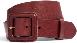 Madewell Leather Covered Buckle Belt