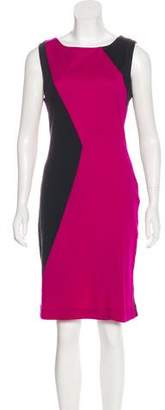 Diane von Furstenberg Knee-Length Colorblock Dress
