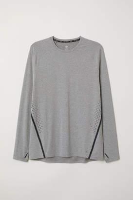 H&M Long-sleeved Running Shirt - Gray