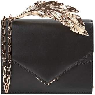Ralph & Russo Black Leather Clutch Bag