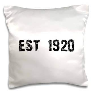 3dRose Grunge Est Established in 1920 - Twenties Baby Born Child of the 1920s - Personal custom birth year - Pillow Case, 16 by 16-inch
