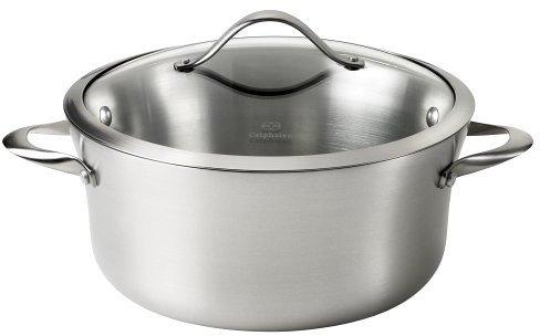 Calphalon Contemporary 6-1/2 Quart Soup Pot w/ Glass Lid, Stainless Steel