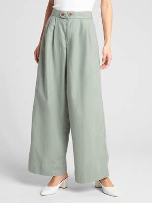 Gap High Rise Wide-Leg Pants in Linen-Cotton