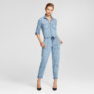 Dollhouse Women's Roll Sleeve Drawstring Waist Jumpsuit $39.99 thestylecure.com