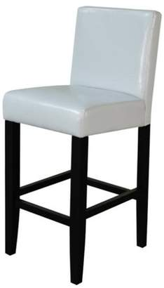 Monsoon Pacific Villa Faux Leather Cloud Gray Counter Stool (Set of 2)