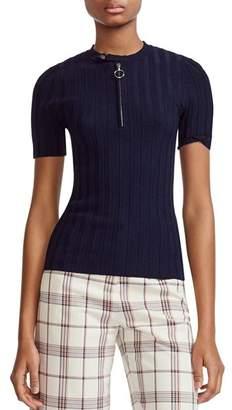 Maje Morino Short Sleeve Sweater