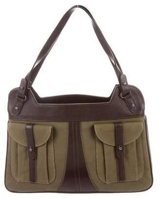 Barbara Bui Leather-Trimmed Shoulder Bag