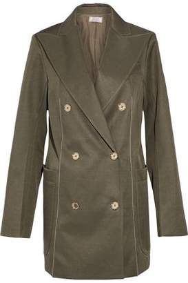 Nina Ricci Double-Breasted Wool And Silk-Blend Jacket