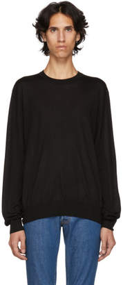 Brioni Black Basic Silk and Cashmere Sweater