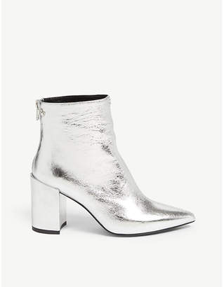 Zadig & Voltaire ZADIG&VOLTAIRE Glimmer metallic leather ankle boots