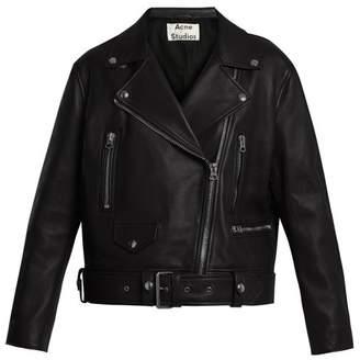 Acne Studios Mock Leather Biker Jacket - Womens - Black