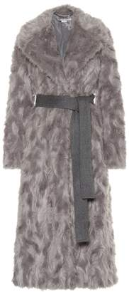 Stella McCartney Belted faux fur coat
