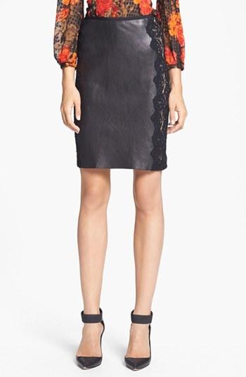 Tracy Reese Mixed Media Skirt