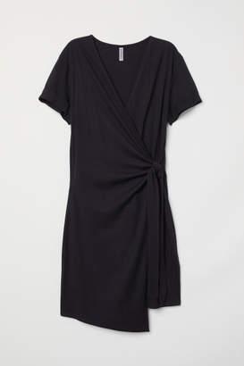 H&M Short Wrap Dress - Black