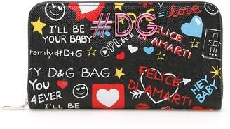 Dolce & Gabbana Calfskin Zip-around Wallet