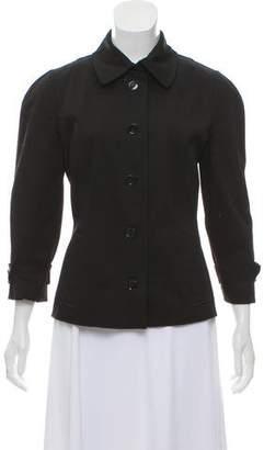 Dolce & Gabbana Pointed Collar Woven Jacket