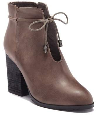 Antelope Ankle Tie Leather Bootie