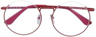 Marni Eyewear round frame glasses