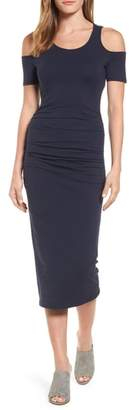 Michael Stars Cold Shoulder Body-Con Dress