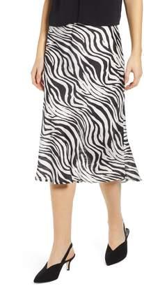 Leith Fluid Satin Midi Skirt