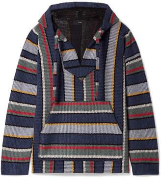 Alanui - Baja Hooded Striped Cashmere Sweater - Blue