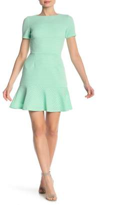 Love...Ady Cap Sleeve Flounce Hem Dress