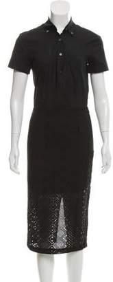 Veronica Beard Midi-Length Button-Up Dress