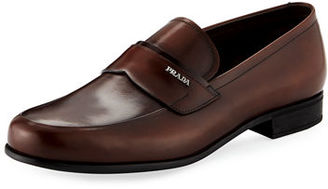 Prada Calf Leather Slip-On Loafer $620 thestylecure.com
