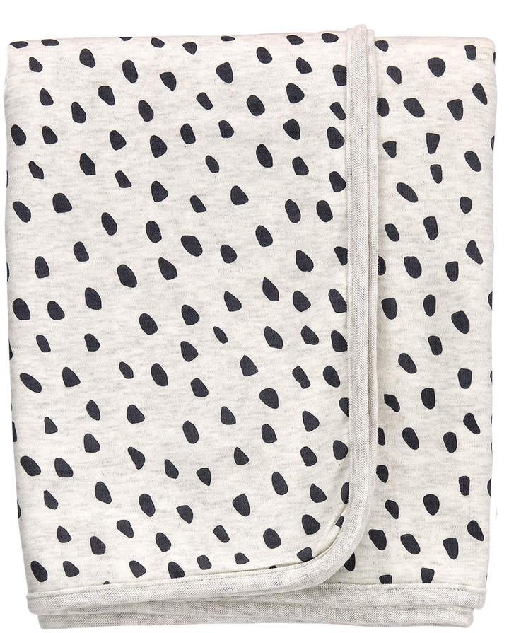 Oatmeal Bear Dot Organic Cotton Receiving Blanket