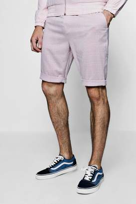 boohoo Window Pane Check Tailored Shorts