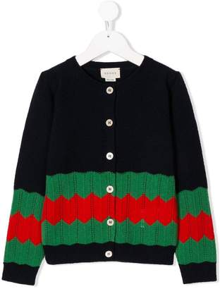 Gucci Kids Web knitted cardigan