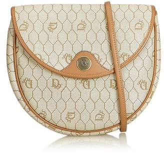 4ed5be15ad57 Christian Dior Vintage Honeycomb Coated Canvas Crossbody Bag