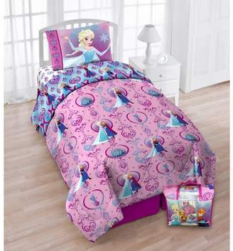 Disney Disney's Frozen 'Floral Frost Twin Bedding Set with Bonus Tote-Exclusive