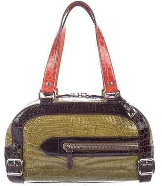 Prada Tricolor Crocodile Bauletto Bag