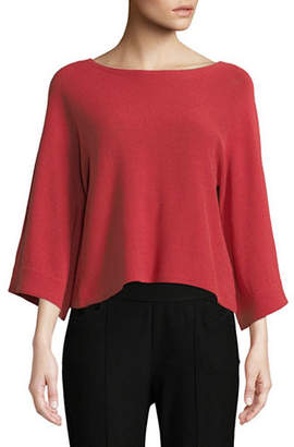 Eileen Fisher Organic Cotton-Blend Knit Top