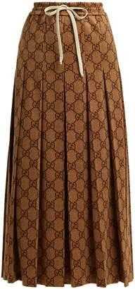 Gucci GG logo-print woven skirt