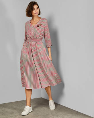 Ted Baker GYMNI V neck shirt dress