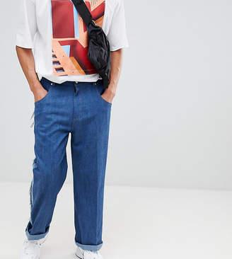ADD wide leg jeans with side stripe