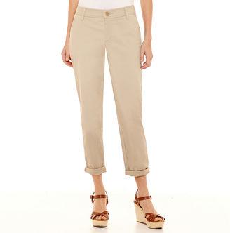 LIZ CLAIBORNE Liz Claiborne Cropped Chino Pants - Tall $44 thestylecure.com