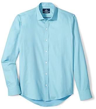 Buttoned Down Amazon Brand Men's Slim Fit Spread-Collar Supima Cotton Dress Casual Shirt