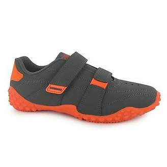 Lonsdale London Kids Childrens Fulham Trainers Sports Padded Ankle Leather Footwear